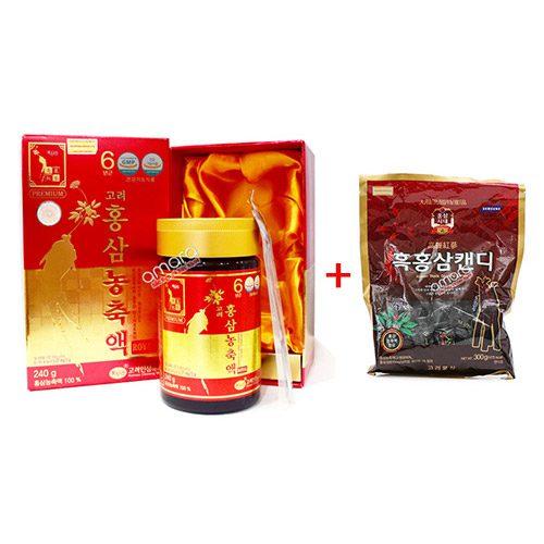 Cao hồng sâm 6 năm tuổi loại Thượng Hạng Hàn Quốc (hộp 1 lọ 240g)