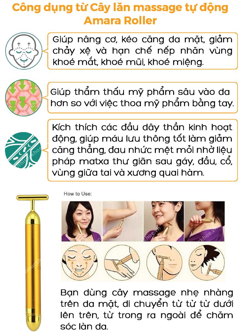 công dụng cây lăn massage tự động