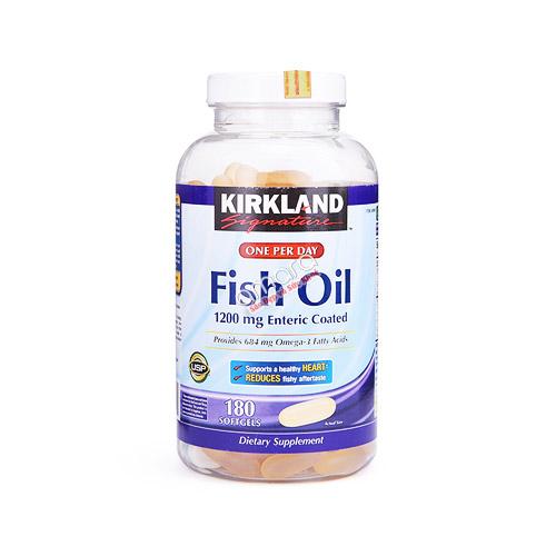 Dầu cá Kirkland Fish Oil Omega 3 (410mg EPA/274mg DHA) 180 viên