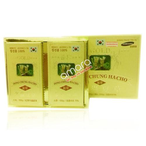 Đông trùng hạ thảo Gold DooWon Hàn Quốc viên nhỏ (02 hộp x 100g)