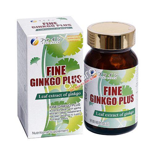 Fine Ginkgo Plus – Viên uống bổ não, tuần hoàn máu, chống mất ngủ
