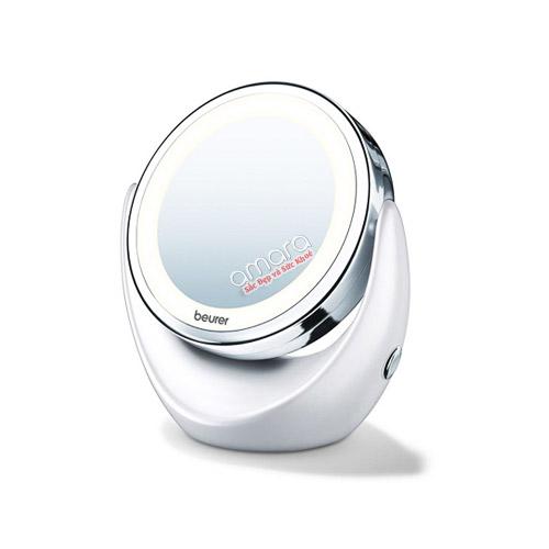 Gương trang điểm Beurer 2 mặt phóng to đến 5 lần có thêm đèn led