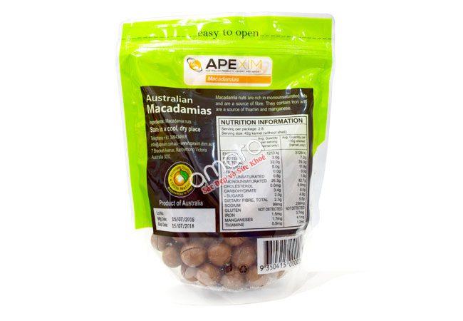 Hạt maca Úc nguyên vỏ sấy khô