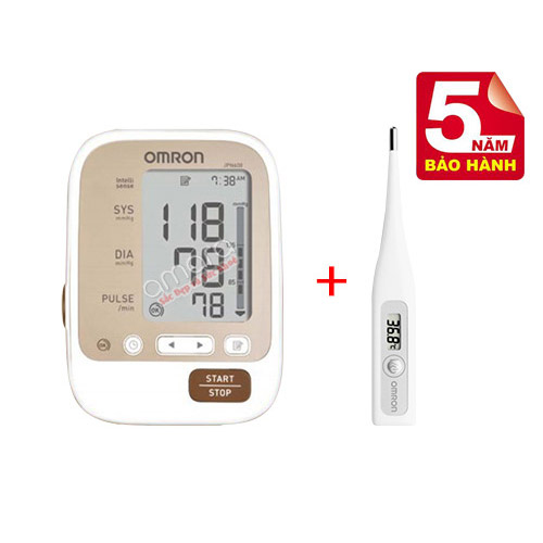 Máy đo huyết áp bắp tay tự động Omron JPN600 nguyên khối từ Nhật (mới 2017)