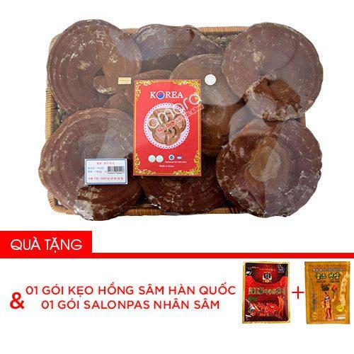 Nấm linh chi núi đỏ Hàn Quốc thượng hạng khay 1kg (Nấm linh chi bào tử)