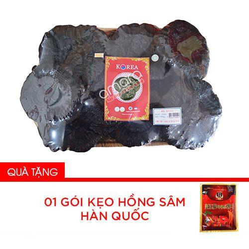 Nấm linh chi đen – Hắc linh chi Hàn Quốc thượng hạng khay 1kg (Xích chi bào tử)