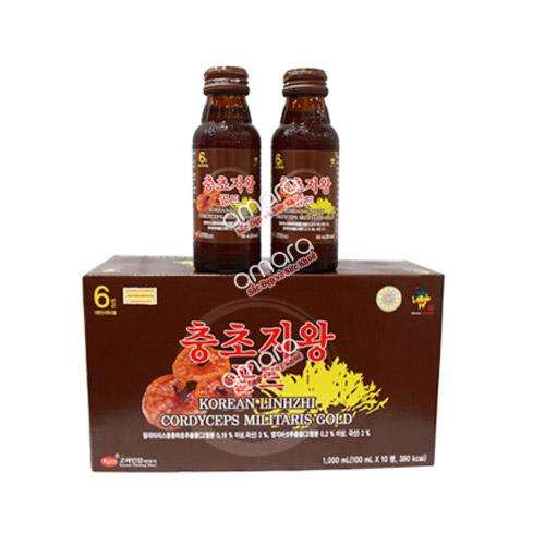 Nước uống nấm linh chi Hàn Quốc kết hợp đông trùng hạ thảo Gold Bio KGS