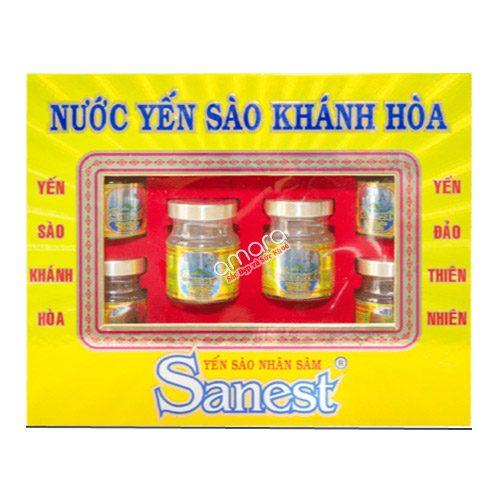 Nước Yến sào Khánh Hòa Sanest Fucoidan nhân sâm (hộp 6 lọ x 70ml)