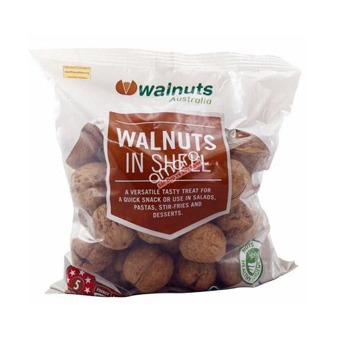 Quả óc chó nguyên vỏ Walnuts Australia 500g