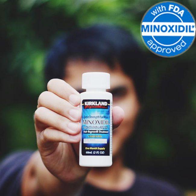 thuốc mọc râu Minoxidil Kirkland chính hàng USA