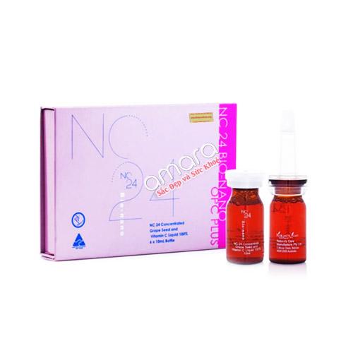 Serum Vitamin C plus tinh chất hạt nho công nghệ Bio-Nano Skin bộ 6 chai