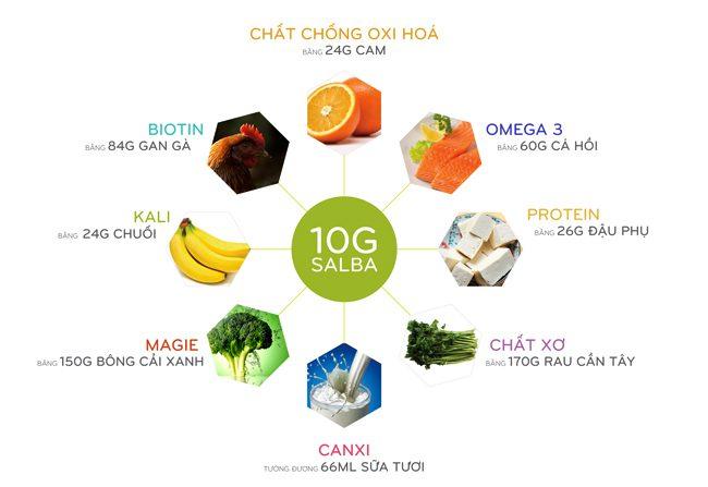 Dinh dưỡng trong 10g hạt Salba