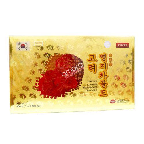 Trà linh chi Hàn Quốc Mushroom hộp giấy 300g (100 gói x 3g)