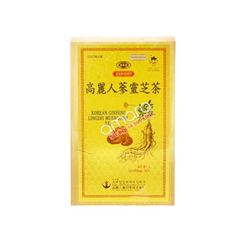 Trà sâm linh chi Hàn Quốc Mushroom hộp gỗ (100 gói x 3g)
