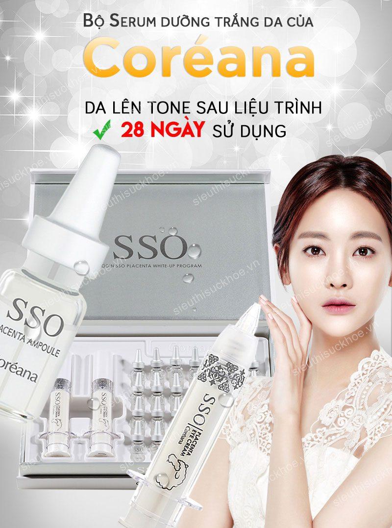 bộ serum coreana dưỡng trắng da
