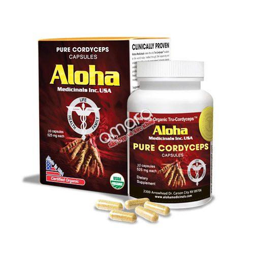 Viên đông trùng hạ thảo Aloha nguyên chất từ USA
