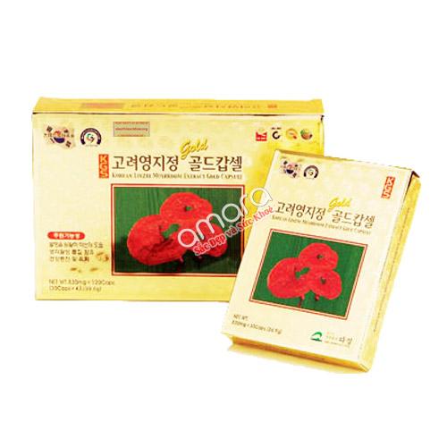 Viên linh chi nguyên chất KGS Hàn Quốc hộp giấy 120 viên