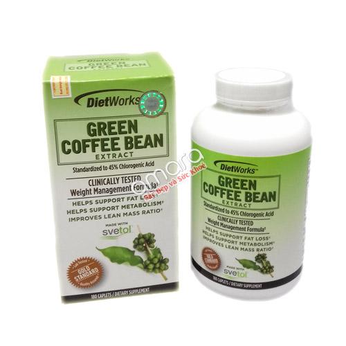Viên giảm cân Green Coffee Bean Extract hiệu quả từ hạt cà phê xanh
