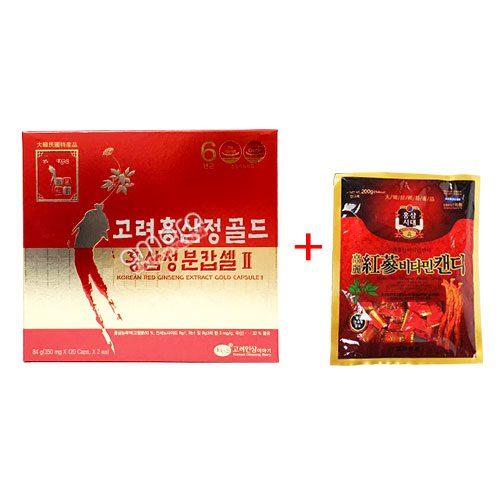 Viên hồng sâm Hàn Quốc 6 năm tuổi (120 viên x 2 hộp)