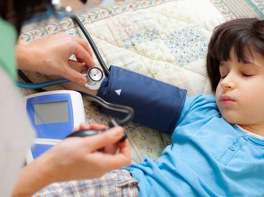 huyết áp bình thường ở trẻ em