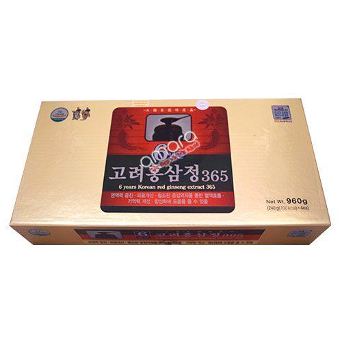Cao hồng sâm Hàn Quốc 365 từ nhân sâm 6 năm tuổi (hộp 4 lọ x 240g)