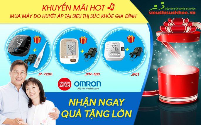 Khuyến mãi khi mua máy đo huyết áp Omron