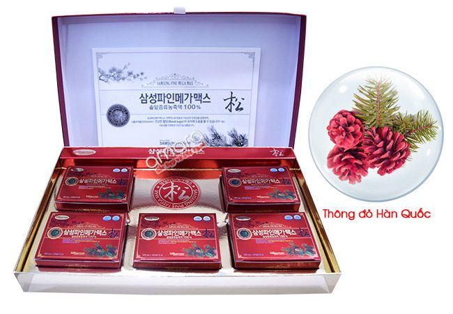 Thành phần viên tinh dầu thông đỏ Hàn Quốc