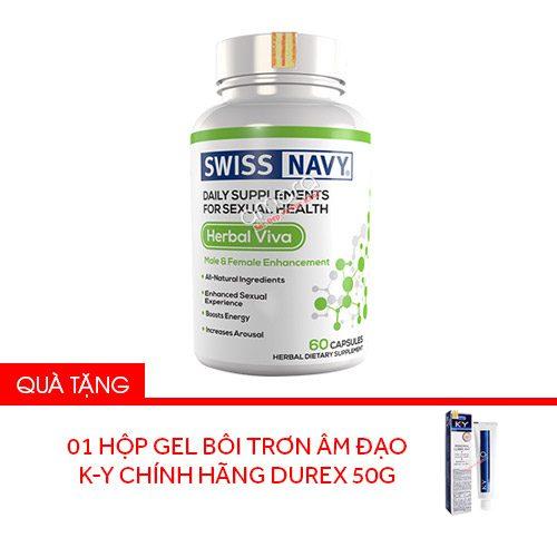 Viên uống hỗ trợ tăng cường sinh lý nam nữ cao cấp Herbal ViVa Super