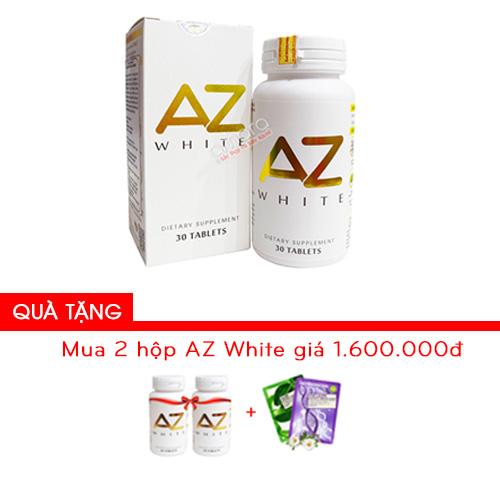 Viên uống trắng da toàn thân sáng tone tự nhiên AZ White