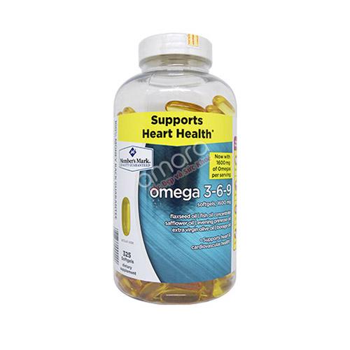 Dầu cá Omega 3-6-9 của Mỹ 325 viên bảo vệ tim mạch, trí não toàn diện