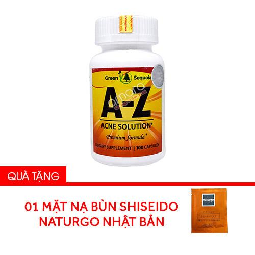 Viên uống trị mụn giảm dầu trên da AZ Acne 100 viên