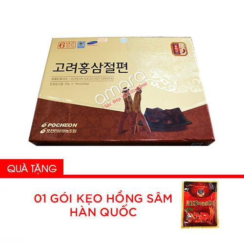 Hồng sâm cắt lát tẩm mật ong Pocheon Kr 200g (10x20g)