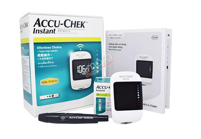 Máy đo đường huyết Accu Chek Intant của Mỹ tại Siêu thị sức khỏe gia đình