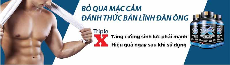 Sử dụng Triple X cũng là cách để tăng cường sinh lực phái mạnh hiệu quả
