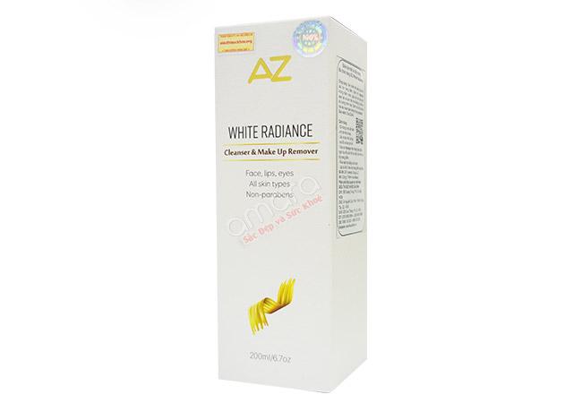 Sữa rửa mặt và tẩy trang AZ White thích hợp mọi loại da