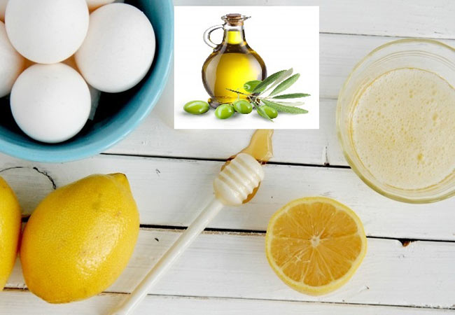 Trị dị ứng da bằng hỗn hợp lòng trắng trứng với chanh và dầu oliu