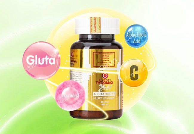 Viên uống trắng da Tatiomax bổ sung vitamin C