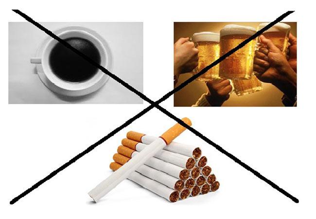 Các chất kích thích được khuyến cáo là không tốt cho sinh lý