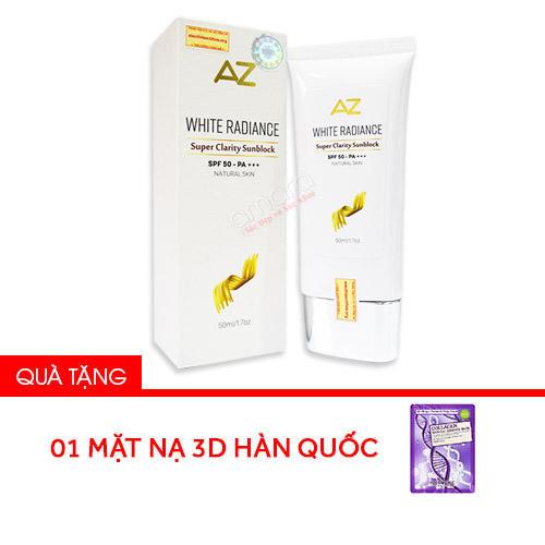 Kem chống nắng AZ White được phân phối tại Siêu Thị Sức Khỏe Gia Đình